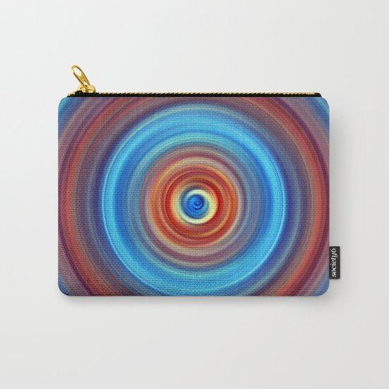 Vivid Blue and Orange Swirl Carry-All Pouch