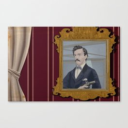 John Wilkes Booth and his mirror Canvas Print