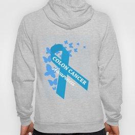 Colon Cancer Awareness Blue Survivor T-Shirt Hoody