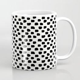 Black Brush Strokes Coffee Mug