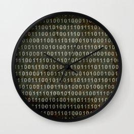 The Binary Code - Dark Grunge version Wall Clock