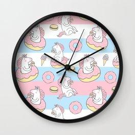 Colorful unicorn pattern Wall Clock