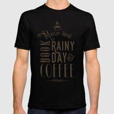 Coffee, book & rainy day II Mens Fitted Tee MEDIUM Black