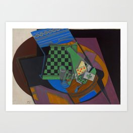 "Juan Gris ""Damier et cartes à jouer (Checkerboard and playing cards)"" Art Print"
