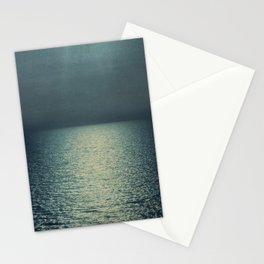 Sea - Emerald Green Ocean Sunset by Ingrid Beddoes Stationery Cards