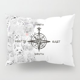 North South East & Westie Dog Pillow Sham