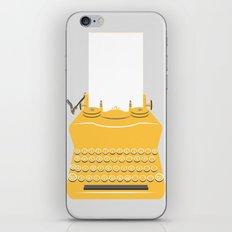 The Lonely Typewriter {mustard} iPhone & iPod Skin