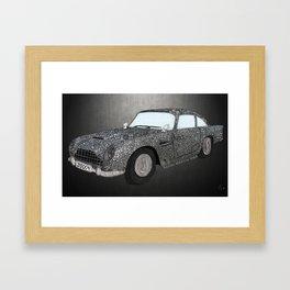 James Bond Aston Martin DB5 Framed Art Print