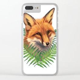 Fern Fox Clear iPhone Case