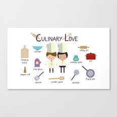 Culinary Love Canvas Print