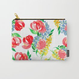 Loose Floral Pattern P3 Carry-All Pouch
