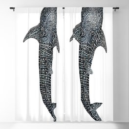 Whale shark for divers, shark lovers and fishermen Blackout Curtain