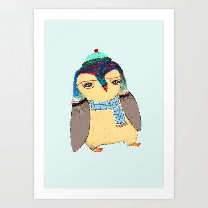 Cute Penguin Art Print