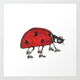 Ladybug Wearing Tap Shoes Gotta Dance Art Print