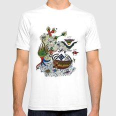about angels and pirates SMALL Mens Fitted Tee White