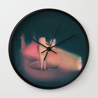 crystals Wall Clocks featuring Crystals by Niclas Boman