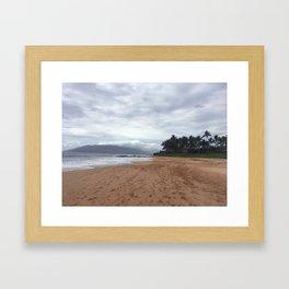 MORNING WALK MAUI Framed Art Print