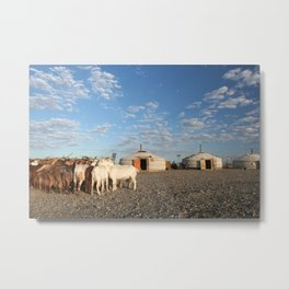 LIVING WITH GOATS Metal Print