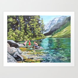 Boats on the water Art Print