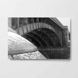 Longfellow Bridge in the Winter Metal Print