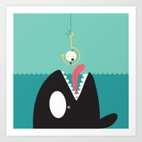 orca Art Prints featuring orca by Alfonso Cervantes