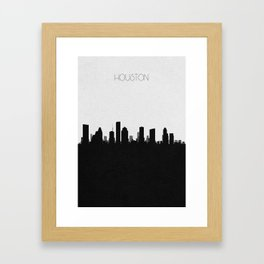 City Skylines: Houston Framed Art Print