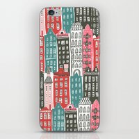 buildings iPhone & iPod Skins featuring Buildings by Rae Ritchie
