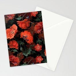 Jan Davidsz. de Heem Vintage Summer Poppies Flowers Night Botanical Garden Stationery Cards