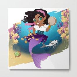 Esmeralda Mermaid Metal Print