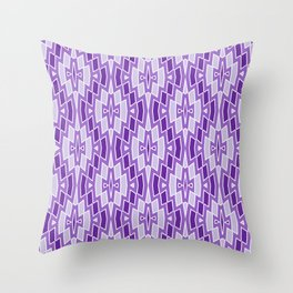 Diamond Pattern in Purple and Lavender Throw Pillow