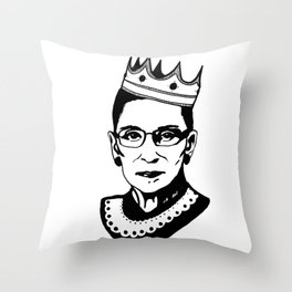 RBG Associate Justice Ruth Bader Ginsburg Throw Pillow