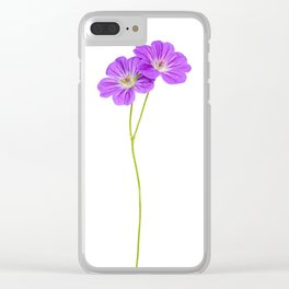 Purple Geraniums Clear iPhone Case