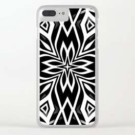 Black White   Leyana Clear iPhone Case
