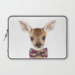 Baby Deer With Bow Tie, Baby Animals Art Print By Synplus Laptop Sleeve