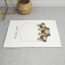 I Want Them All - cute puppies in the pocket - dog lovers alert - best seller Rug