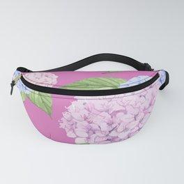 Pink Hydrangeas Fanny Pack