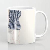stripes Mugs featuring Stripes by Elly Liyana