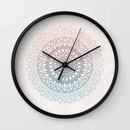 Pastels Mandala Wall Clock