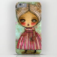 Dandelion Girl in Red And Pink iPhone 6 Plus Slim Case