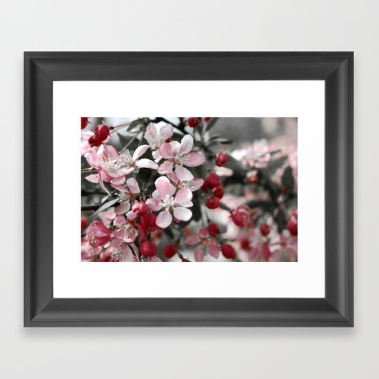 Shades of Pink and Gray Framed Art Print