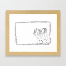 trees of eden trees of children Framed Art Print