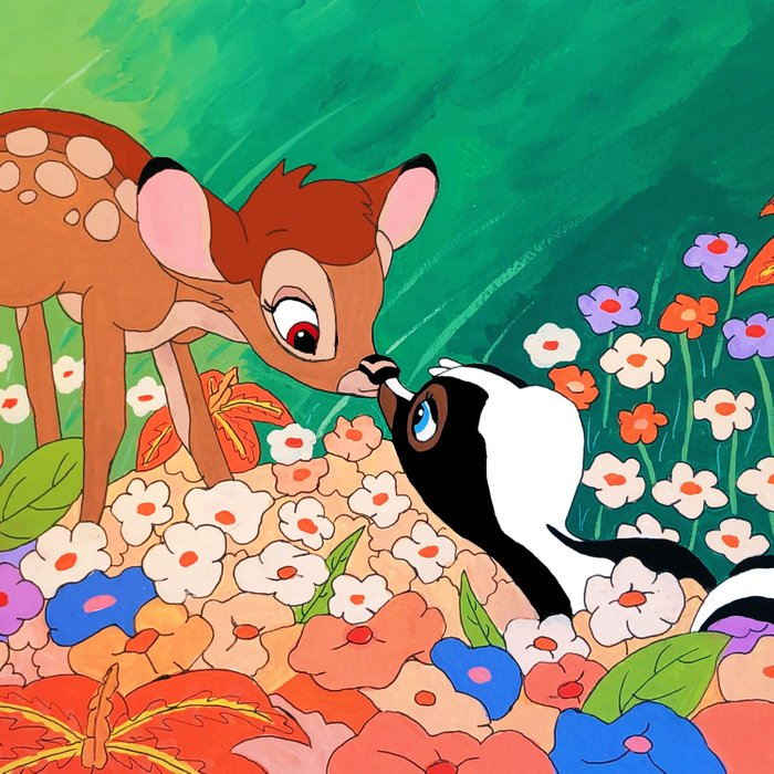 Bambi and Flower Duvet Cover