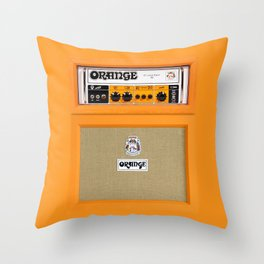 Retro Orange guitar electric amp amplifier iPhone 4 4s 5 5s 5c, ipad, tshirt, mugs and pillow case Throw Pillow