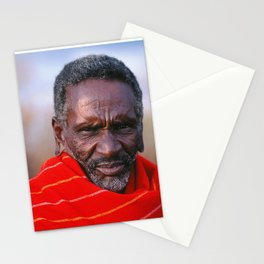 African Maasai Elder Stationery Cards