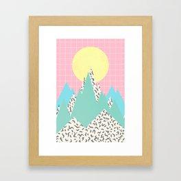 Memphis Mountains Framed Art Print