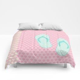 Flip Flop Pastel Comforters