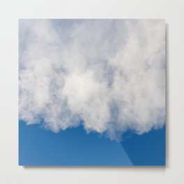 Cotton candy in blue Metal Print