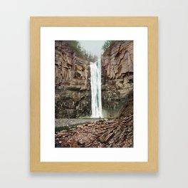 Taughannock Falls Near Ithaca New York - Circa 1901 Photochrom Framed Art Print