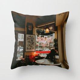 San Francisco Bohemian Cafe Throw Pillow