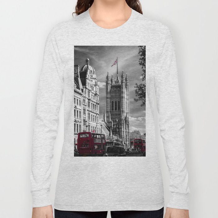 Red London Buses and Westminster Cathedral Long Sleeve T-shirt